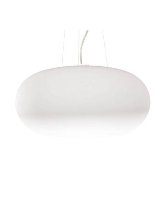 lampada moderna bianca a forma di ciambella eggs