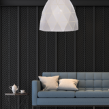lampada moderna bianca salotto DUKKA