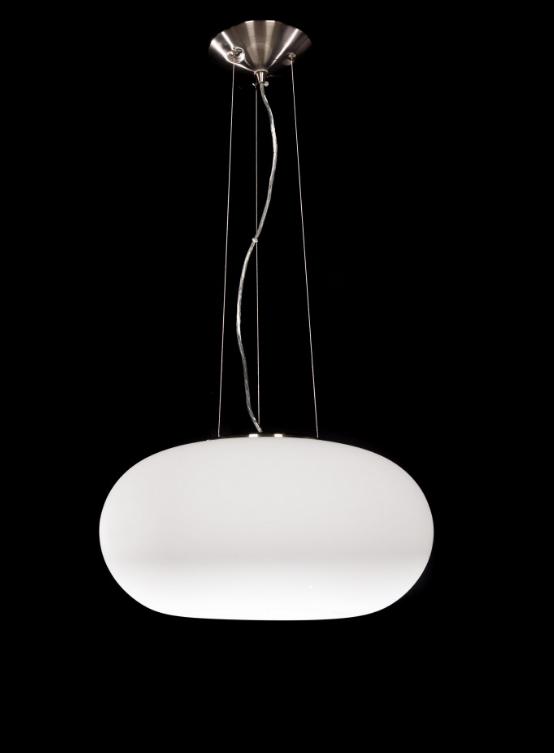 lampada moderna bianca a sospensione