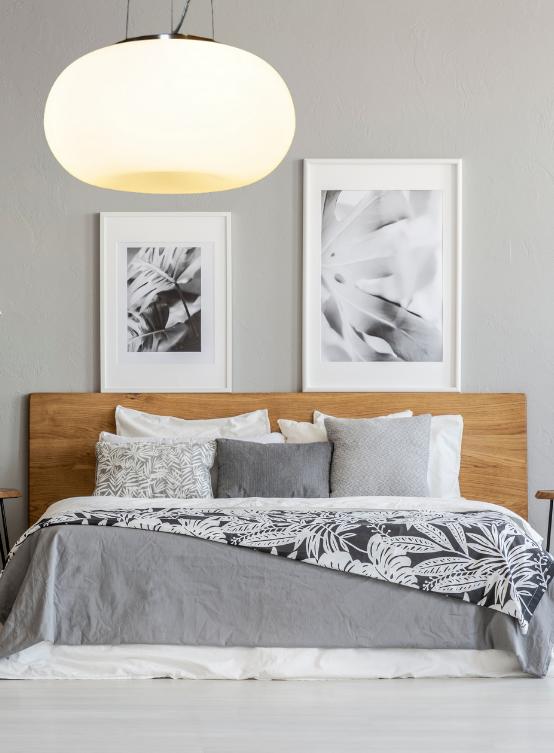 lampada moderna per camera da letto in stile moderno