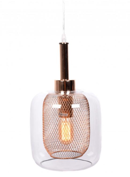 lampada moderna a filo trasparente paralume in vetro
