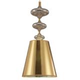lampada moderna color oro con paralume a forma di con imbuto rovesciato