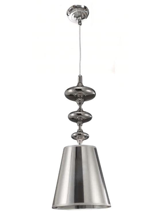 lampada moderna paralume argento