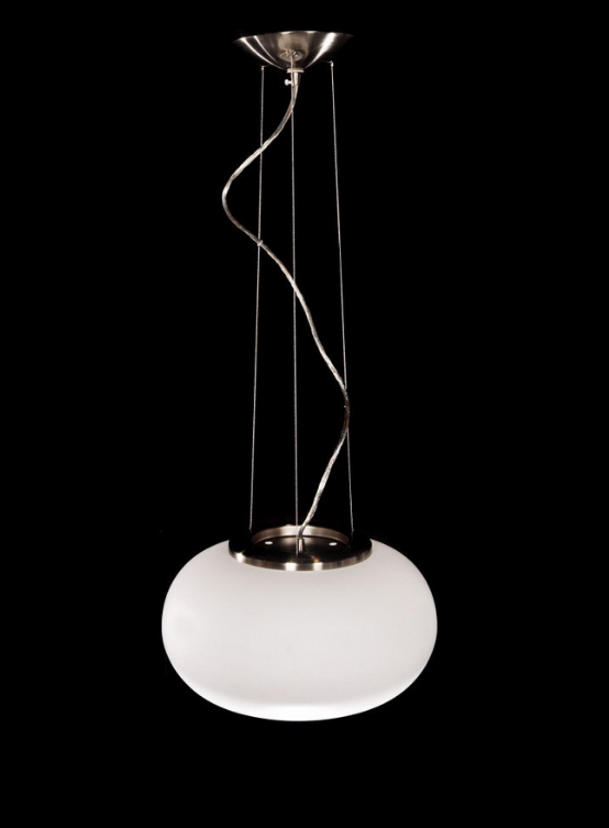 lampada moderna a sospensione bianca rotonda FIRMINO