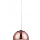 lampada sfera oro rosa paralume in vetro