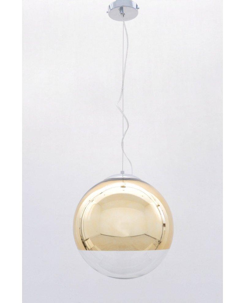 lampada sfera vetro dorata specchio design moderno 12 test