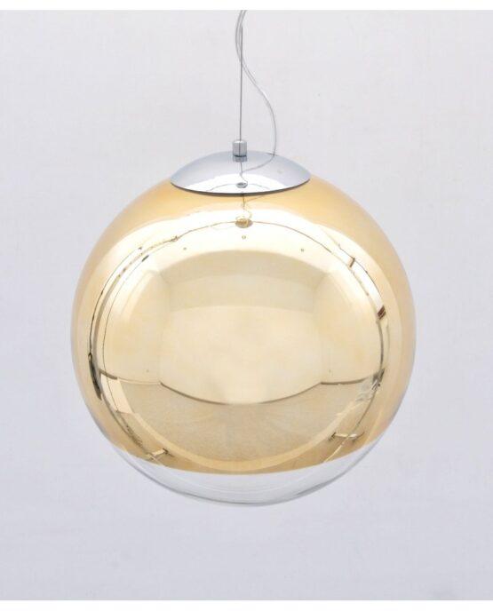 lampada sfera vetro dorata specchio design moderno