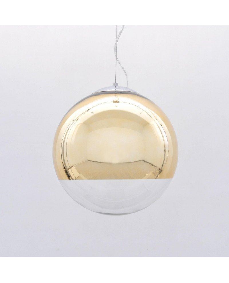 lampada sfera vetro dorata specchio design moderno 12121 test