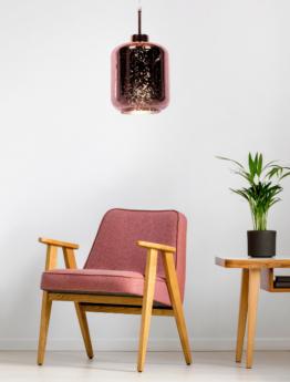 lampada soffitto design oro rosa salotto