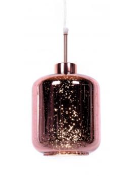 lampada a sospensione a forma di barattolo oro rosa