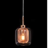 lampada a sospensione di design oro rosa bessa