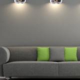 lampada a sospensione divano design vetro cromato a forma di barattolo
