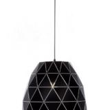 lampada a sospensione moderna metallo nero