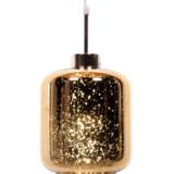 lampada a sospensione oro design a forma di barattolo