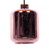 lampada a sospensione oro rosa con paralume in vetro