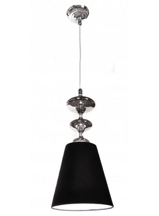 lampada a sospensione con paralume in tessuto nero VENEZIANA