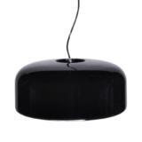 lampada sospensione plastica nera lucida