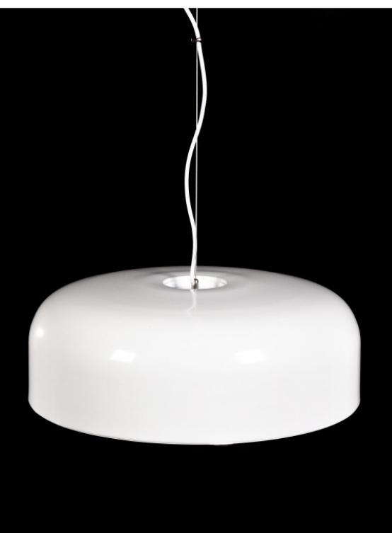 lampada a sospensione plastica bianca di design