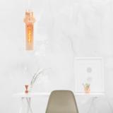 lampada a sospensione in vetro ambra design