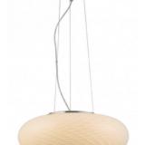 lampada a sospensione in vetro bianco per casa EVIANTE
