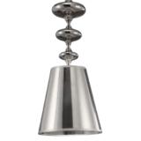 lampadari argento con paralume conico