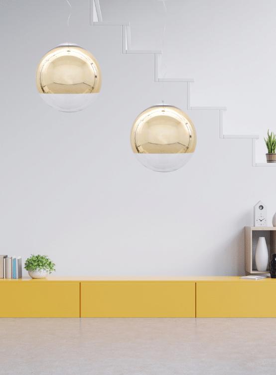 lampadari moderni dorati a sospensione