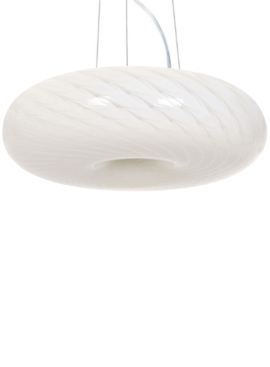 lampadari moderni a sospensione in vetro bianco opalino