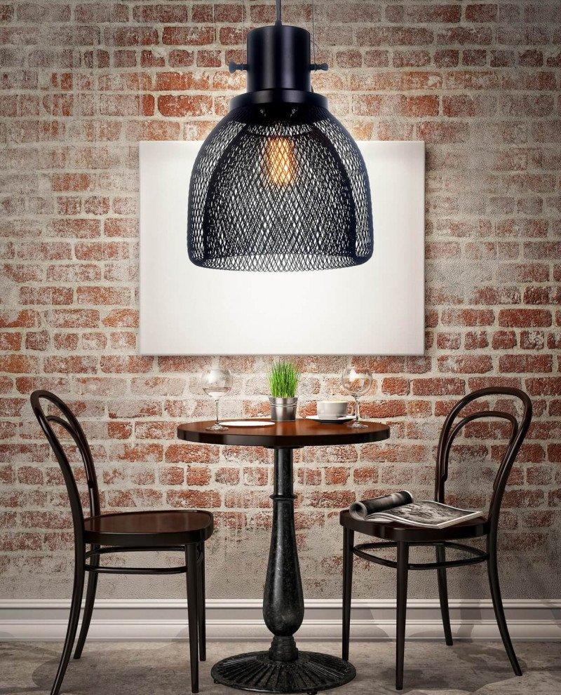 lampadario a sospensione con rete metallica design 1 test