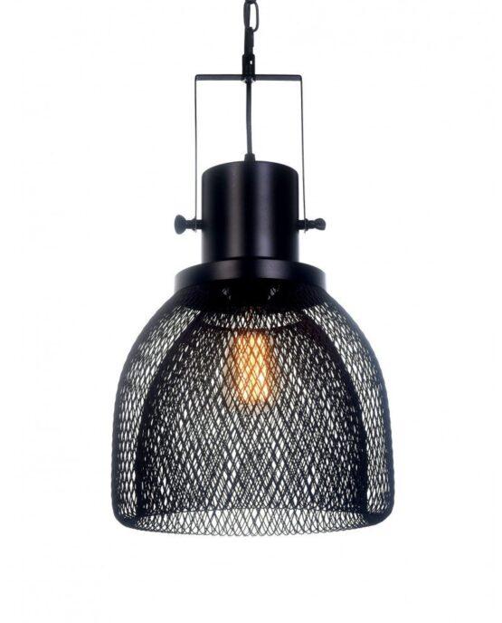 lampadario a sospensione con rete metallica design