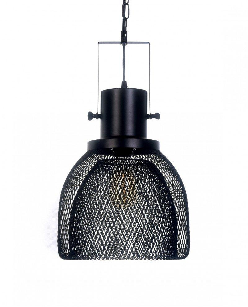 lampadario a sospensione con rete metallica design 1211 test