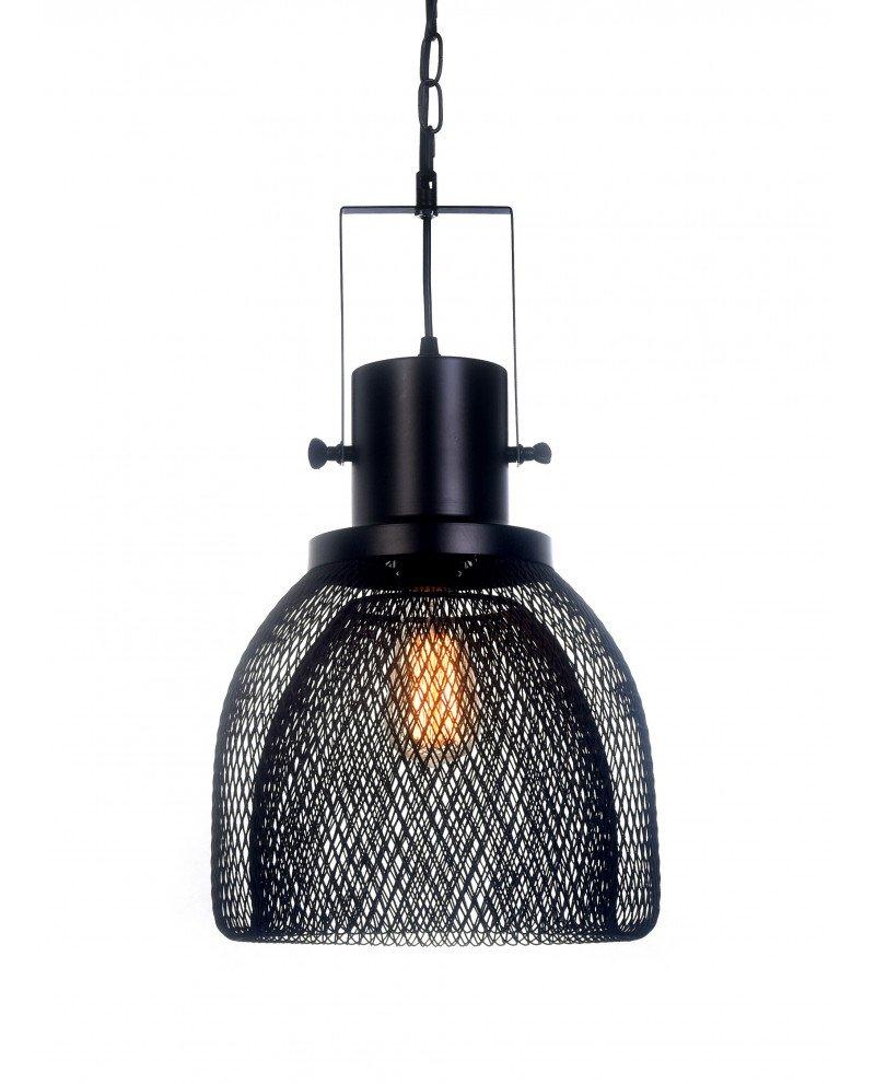 lampadario a sospensione con rete metallica design test