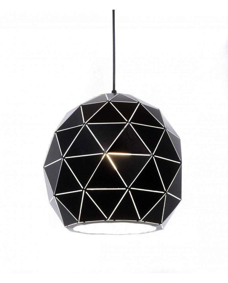 lampadario a sospensione deisgn moderno nero poligonale 4 test