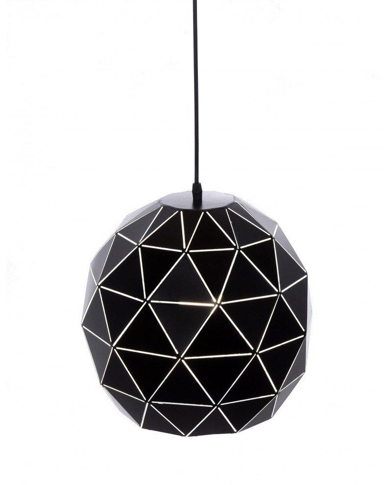 lampadario a sospensione deisgn moderno nero poligonale 6 test