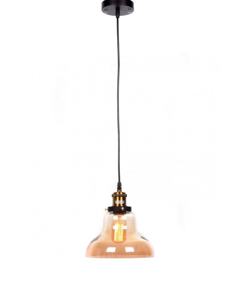 lampadario a sospensione in stile steampunk in vetro ambrato 1 test