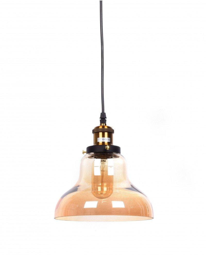 lampadario a sospensione in stile steampunk in vetro ambrato 23 test