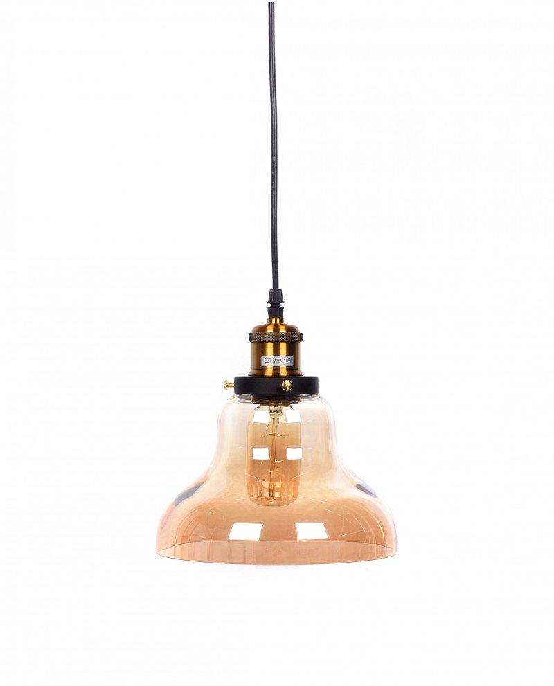 lampadario a sospensione in stile steampunk in vetro ambrato 3 test