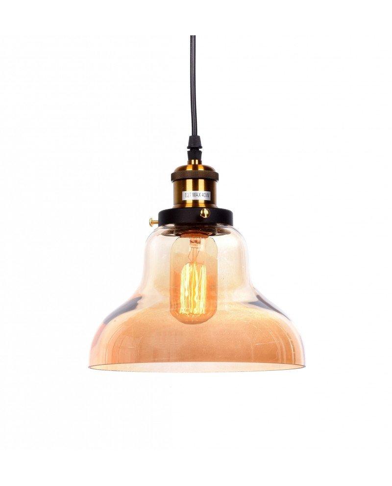 lampadario a sospensione in stile steampunk in vetro ambrato 31 test