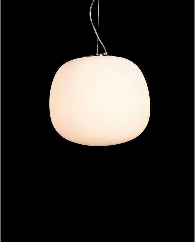 lampadario a sospensione in stile super egg vetro opaco test