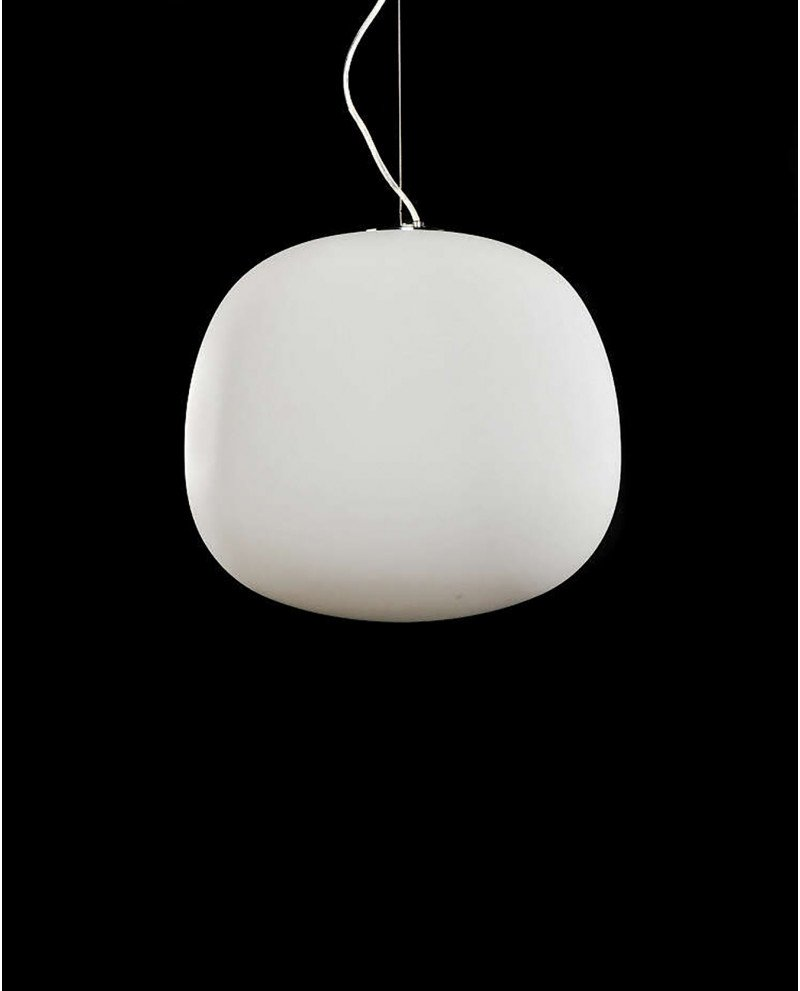 lampadario a sospensione in stile super egg vetro opaco 12 test