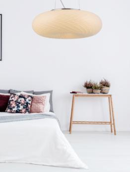 lampadario bianco per la camera da letto vetro satinato