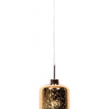 lampadario color oro in vetro di design