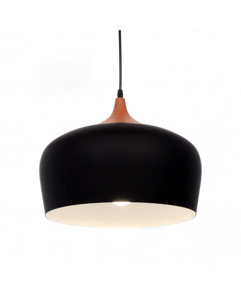 lampadario da soffitto scandinavo design esclusivo minimal nero 1 test