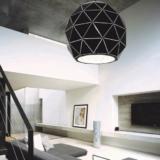 lampadario geometrico salotto