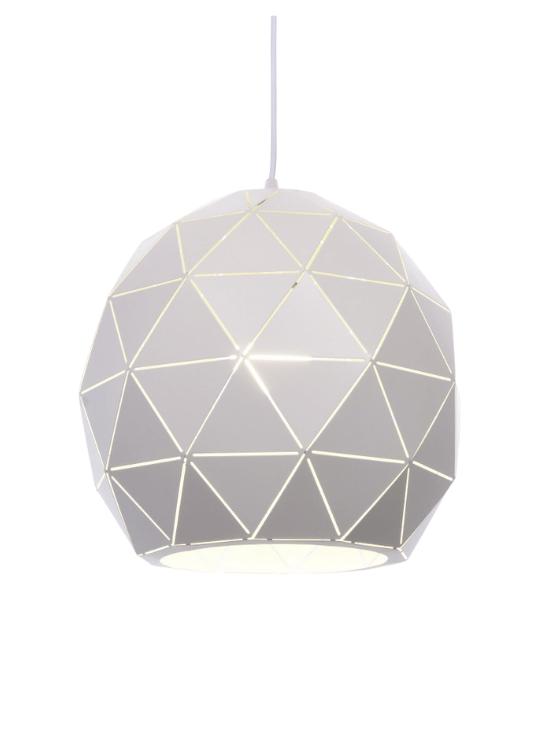 lampadario metallo bianco forma sfera moderna