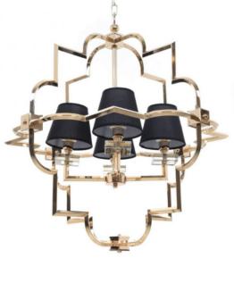 lampadario moderno nero oro cristallo