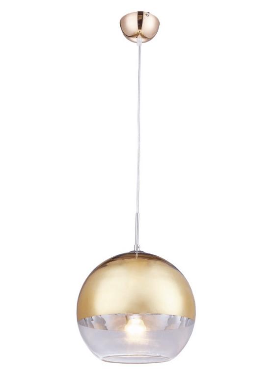 lampadario a palla color oro