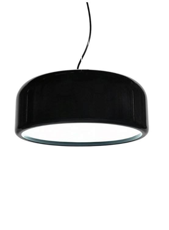 lampadario plastica nero lucido