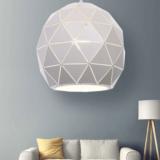 lampadario salotto moderno metallo bianco