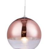 lampadario sfera moderno oro rosa paralume 30 cm