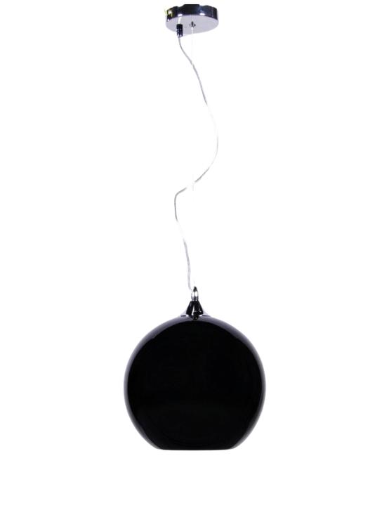 lampadario sfera nero lucido a sospensione